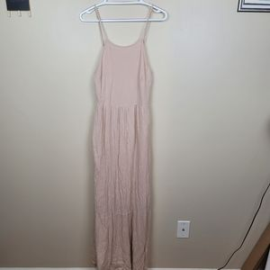 ASOS Light Pink Spaghetti Strap Maxi Dress size 8